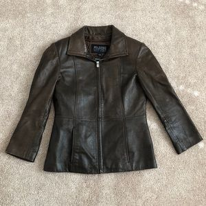Wilson Leather Pelle Studio Brown Leather Jacket